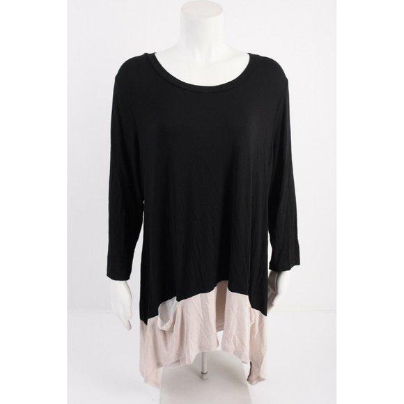LOGO Lori Goldstein Womens Tunic Top Shirt XL